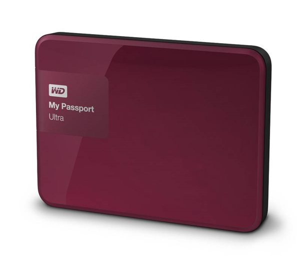 "Western Digital My Passport Ultra 500GB 2,5"" USB3,0, vínový"
