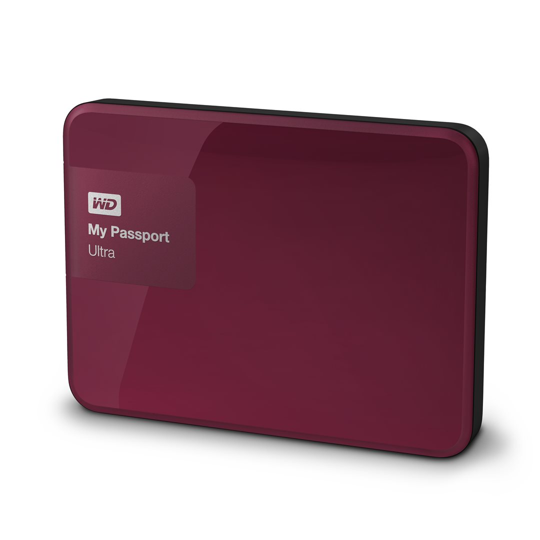 "Western Digital My Passport Ultra 2TB, 2,5"" USB3,0, vínový"