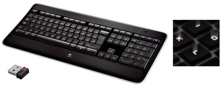 Logitech Wireless Illuminated Keyboard K800, US layout